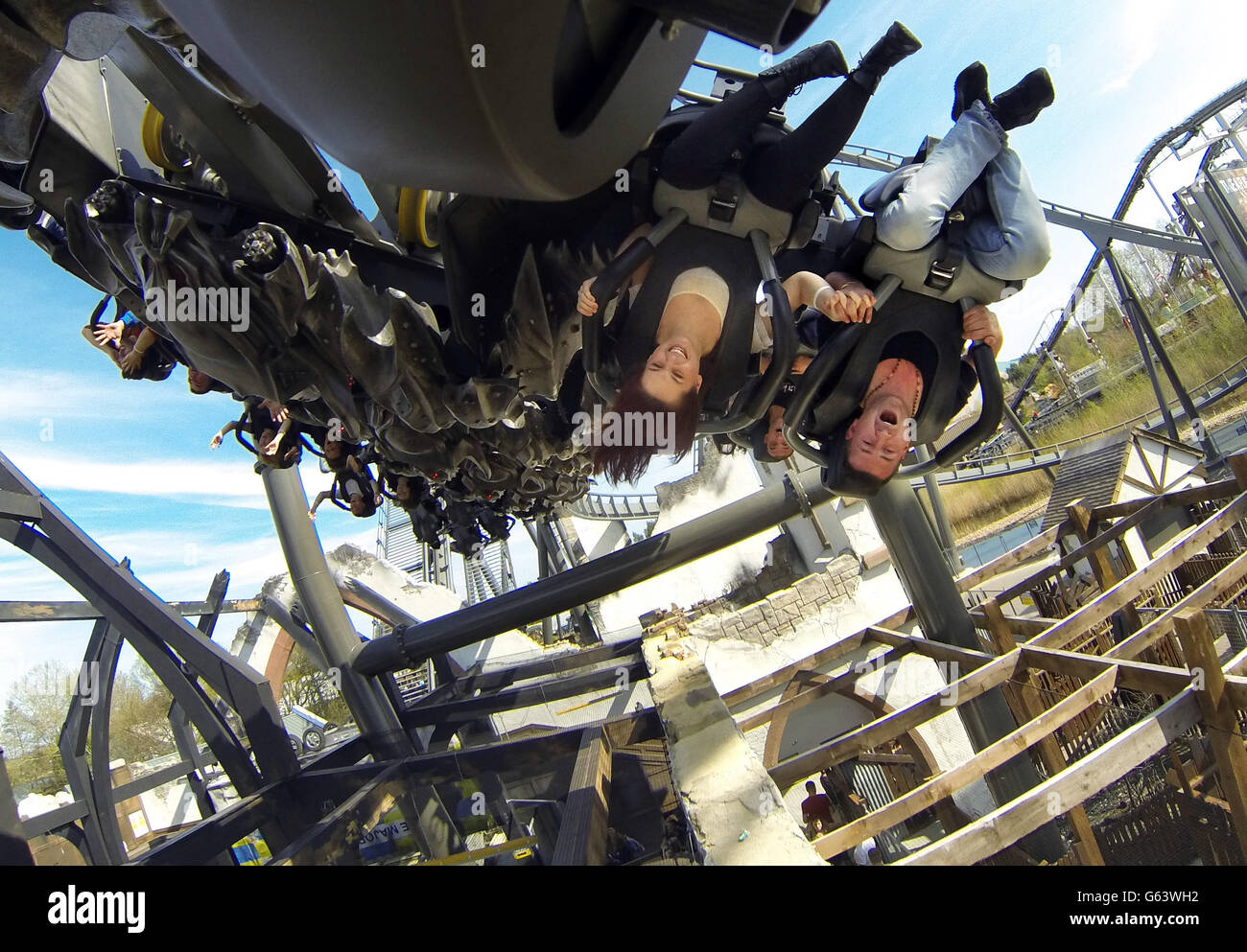 Rollercoasters - Thorpe Park - Stock Image