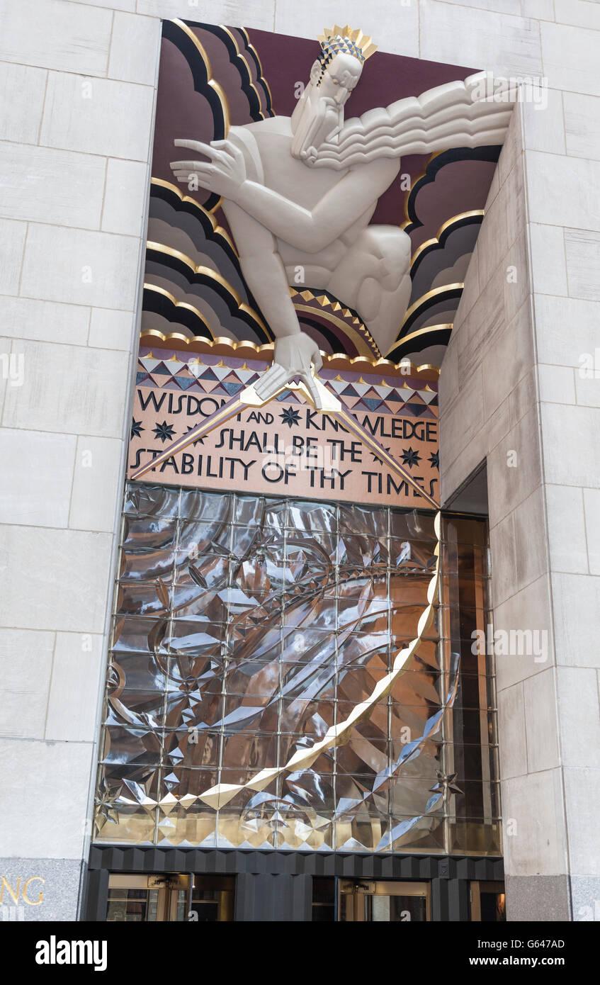 Tower God Compass Bas Relief Art Deco Stock Photos & Tower God ...