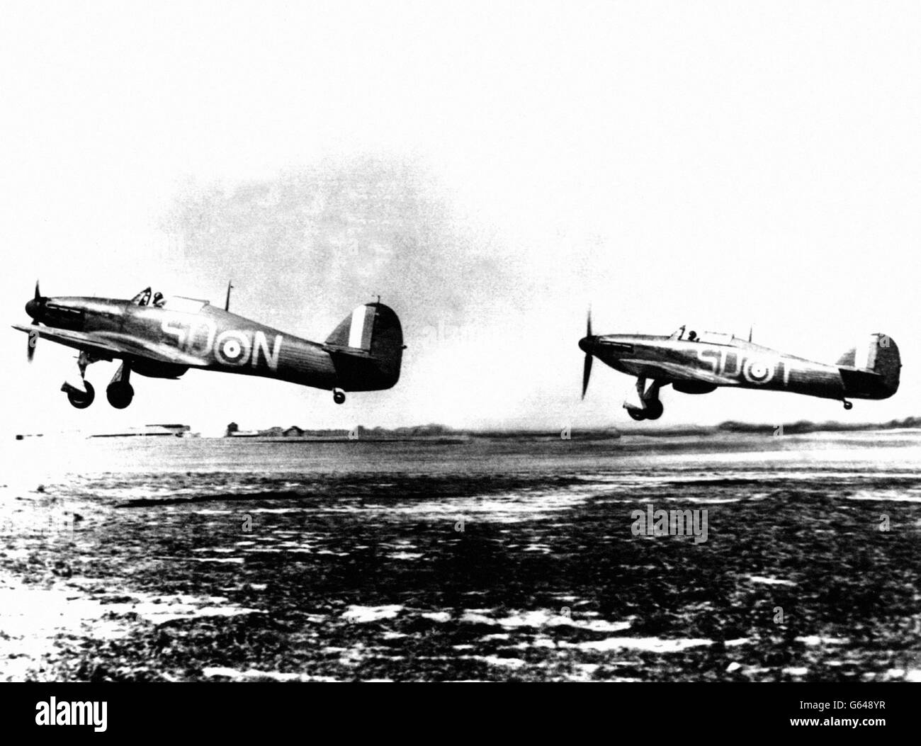 World War Two - Battle of Britain - Hawker Hurricanes - 1940 - Stock Image