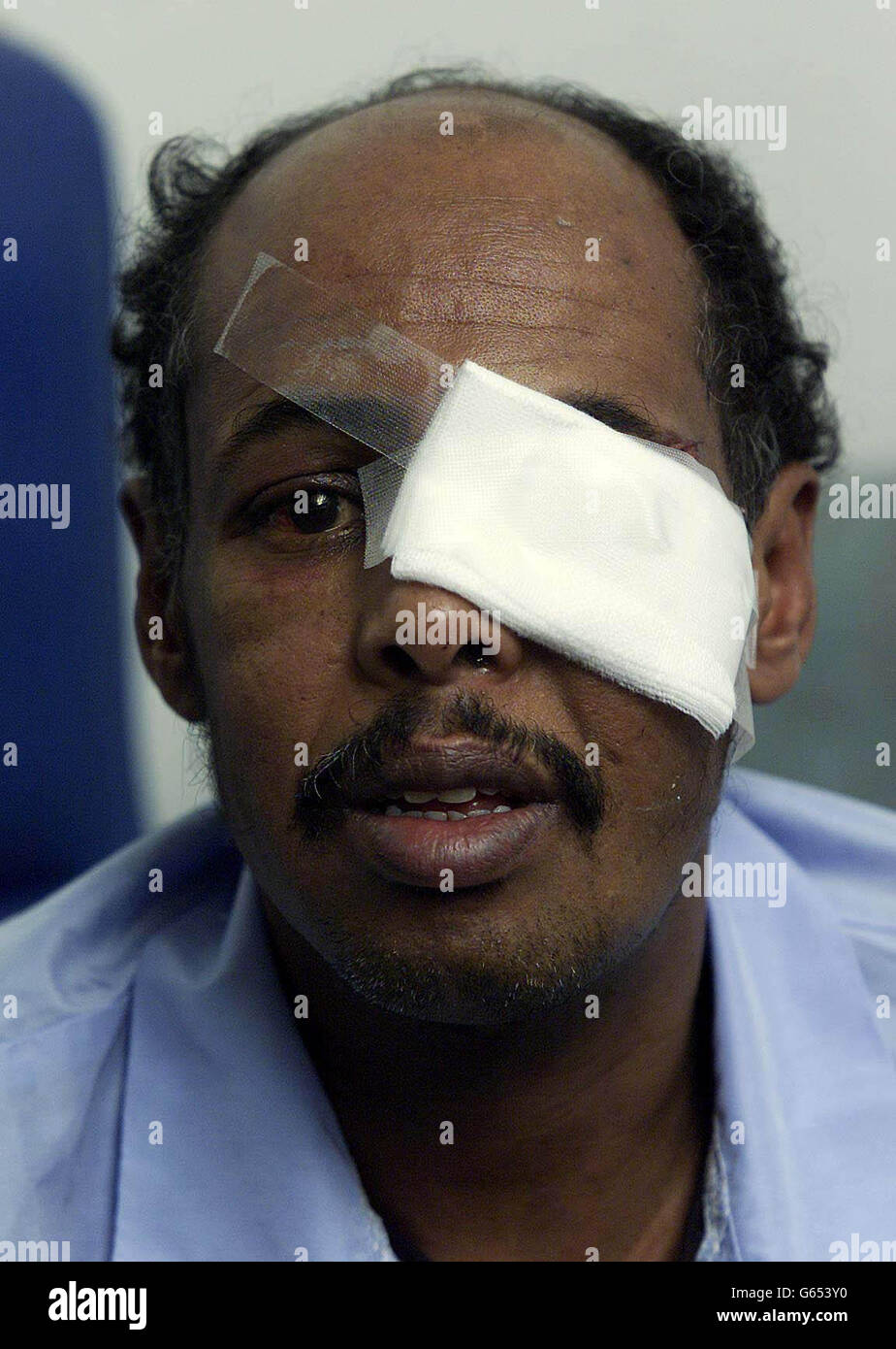 Ahmed Ali - racist attack - Stock Image