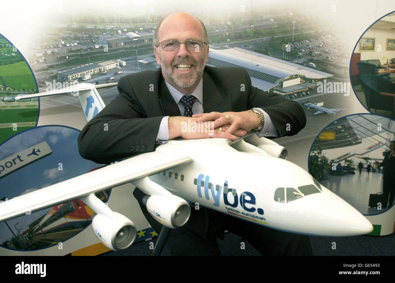 Flybe - Jim French - Stock Image