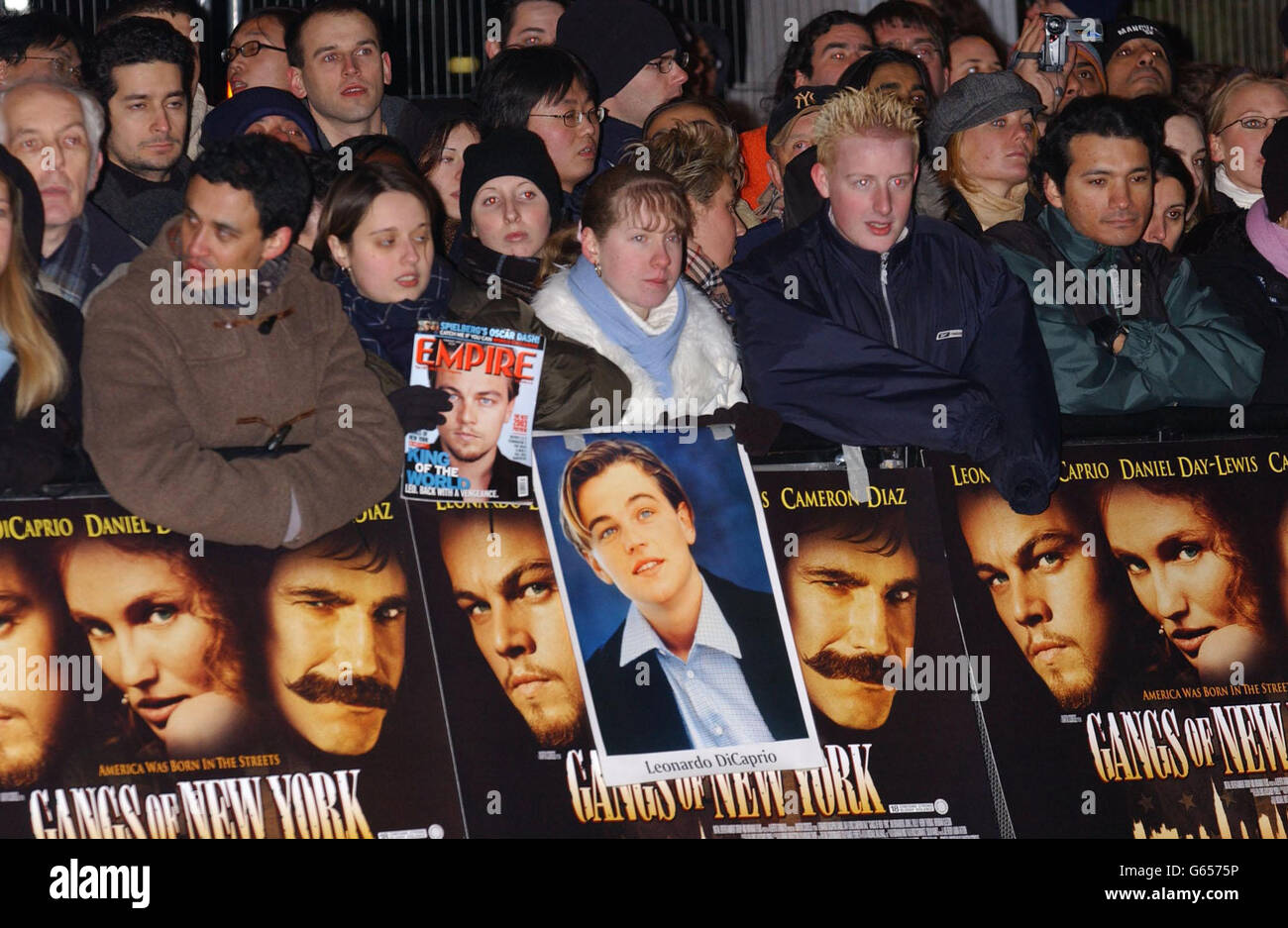 Fans Gangs of New York - Stock Image
