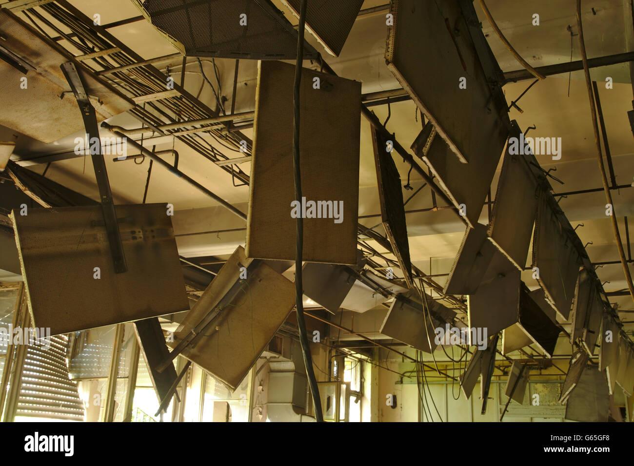 Broken Ceiling Stock Photos Amp Broken Ceiling Stock Images