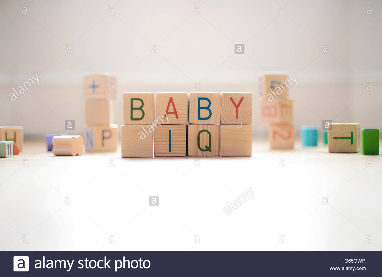 Play Blocks spelling out Baby IQ - Stock Image