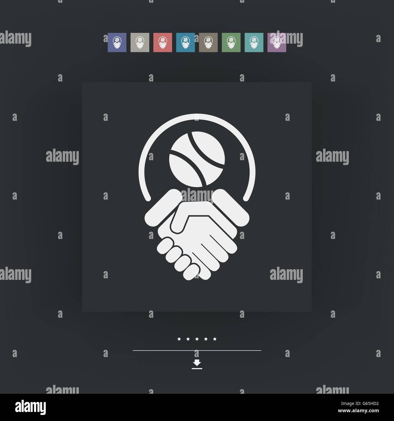 Tennis fairplay - Stock Image