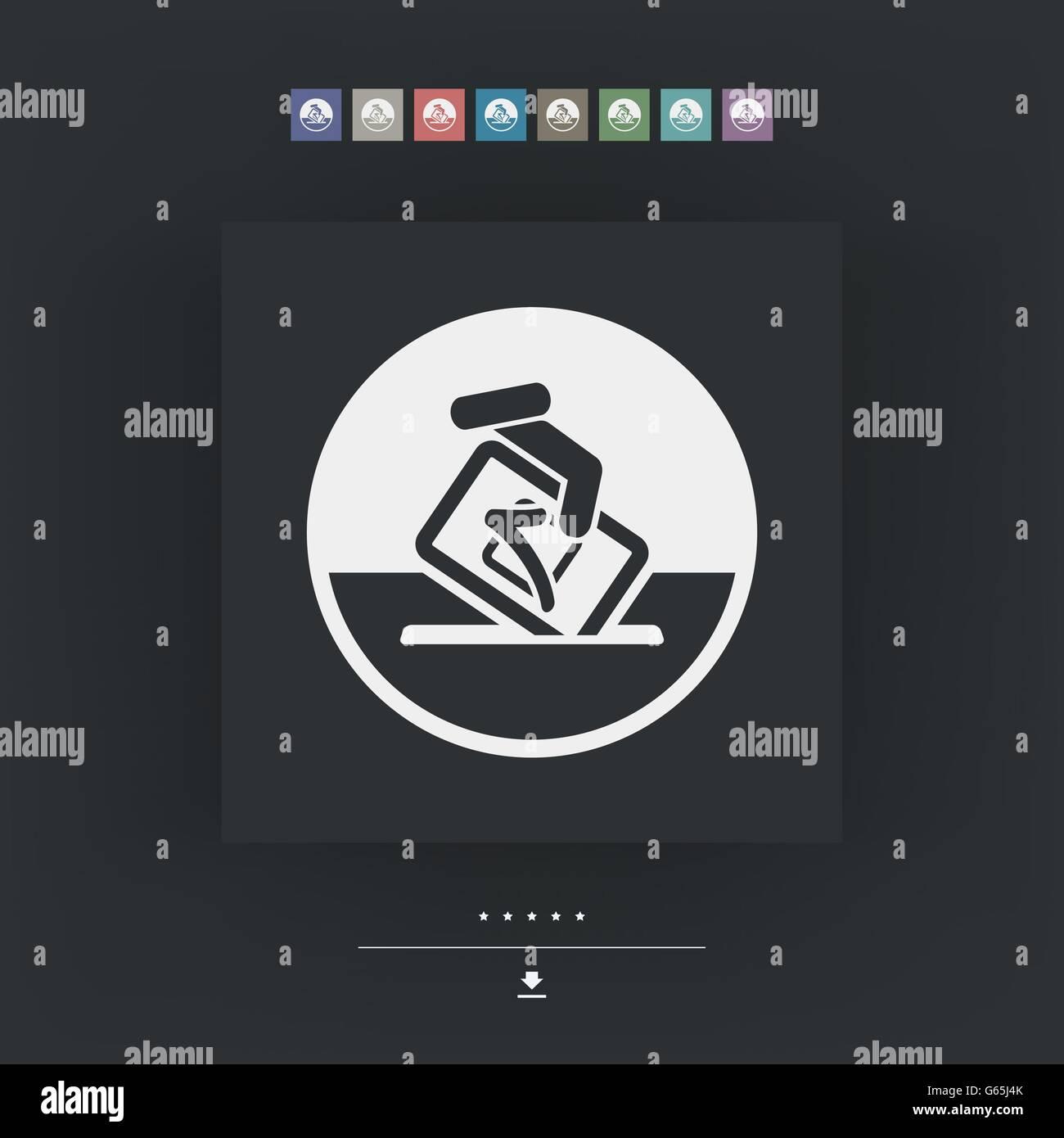 Vote symbol icon Stock Vector