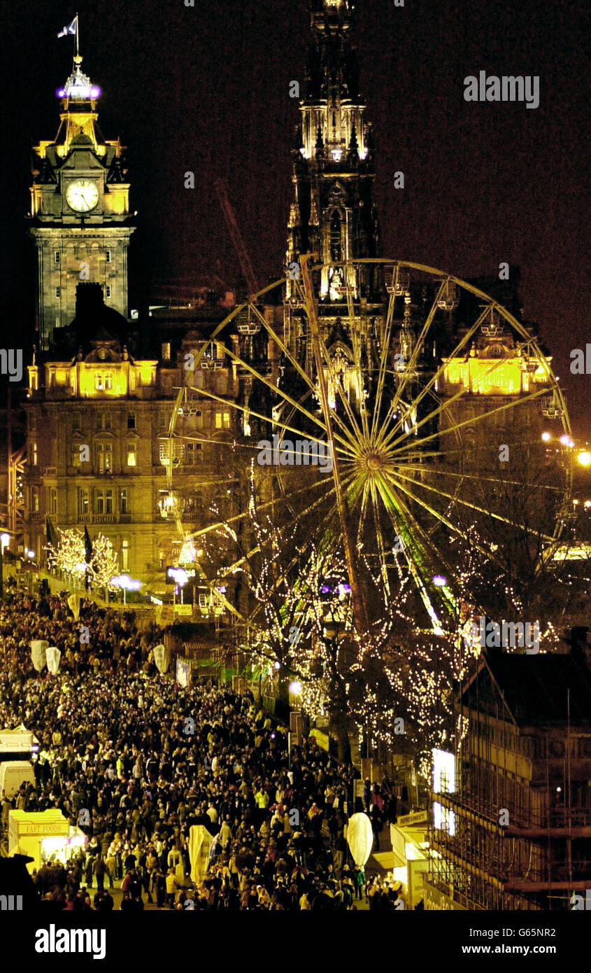 Customs and Traditions - Hogmanay Celebrations - Edinburgh Stock Photo