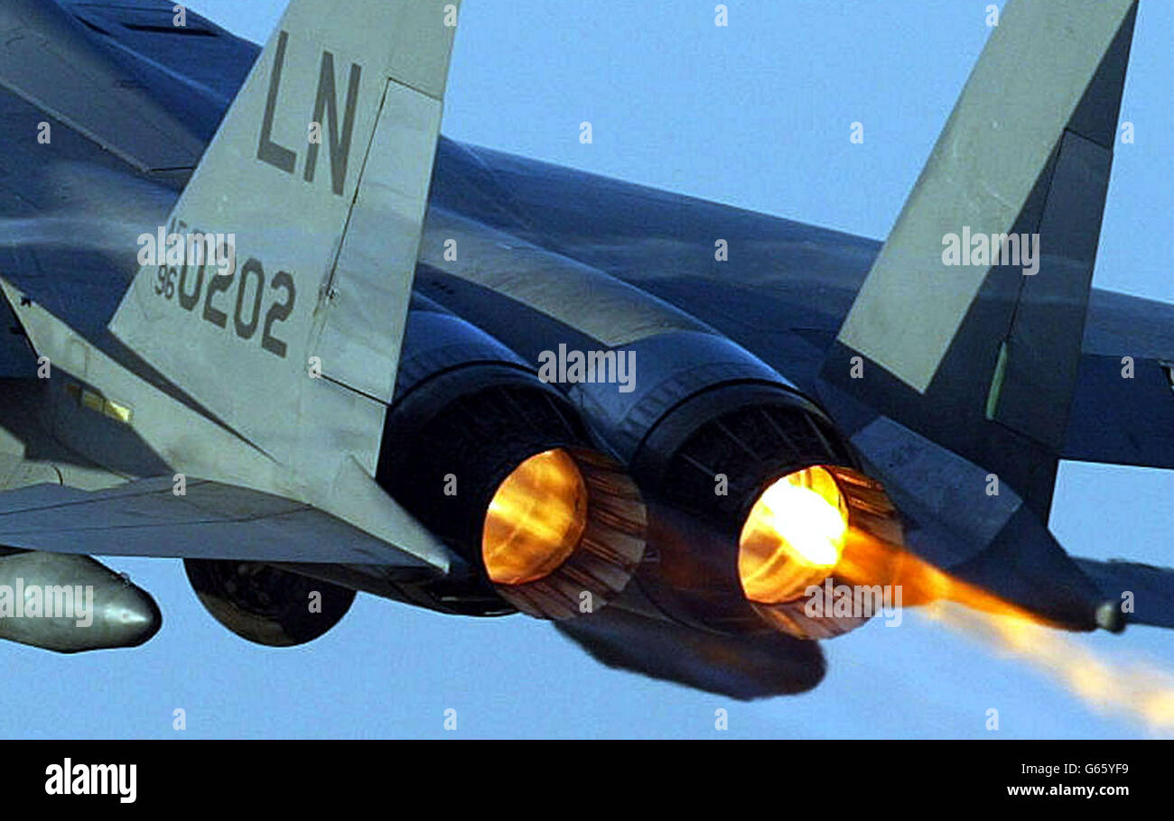 F15 at RAF Lakenheath Stock Photo