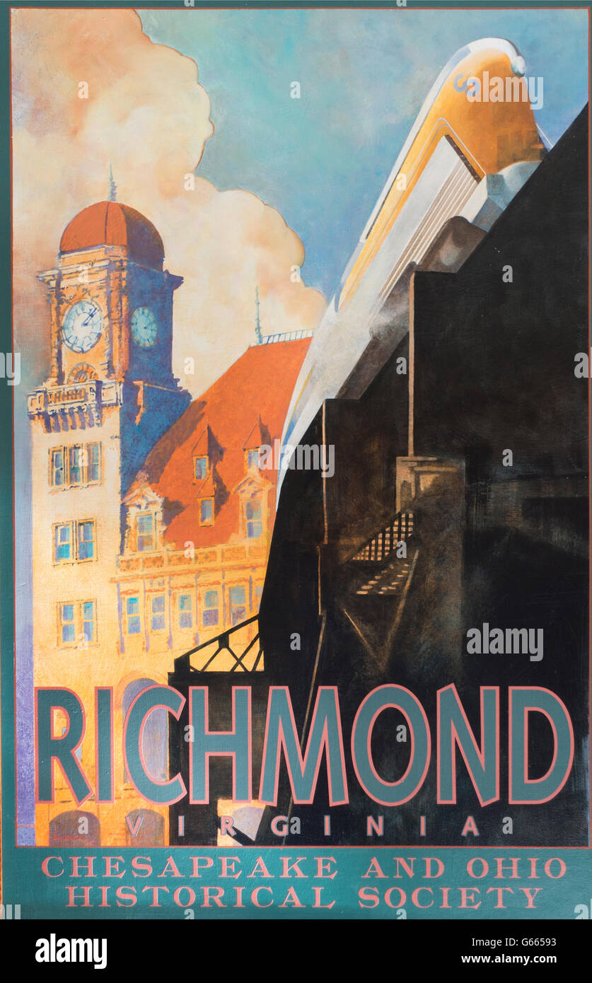 Richmond Virginia poster - Stock Image