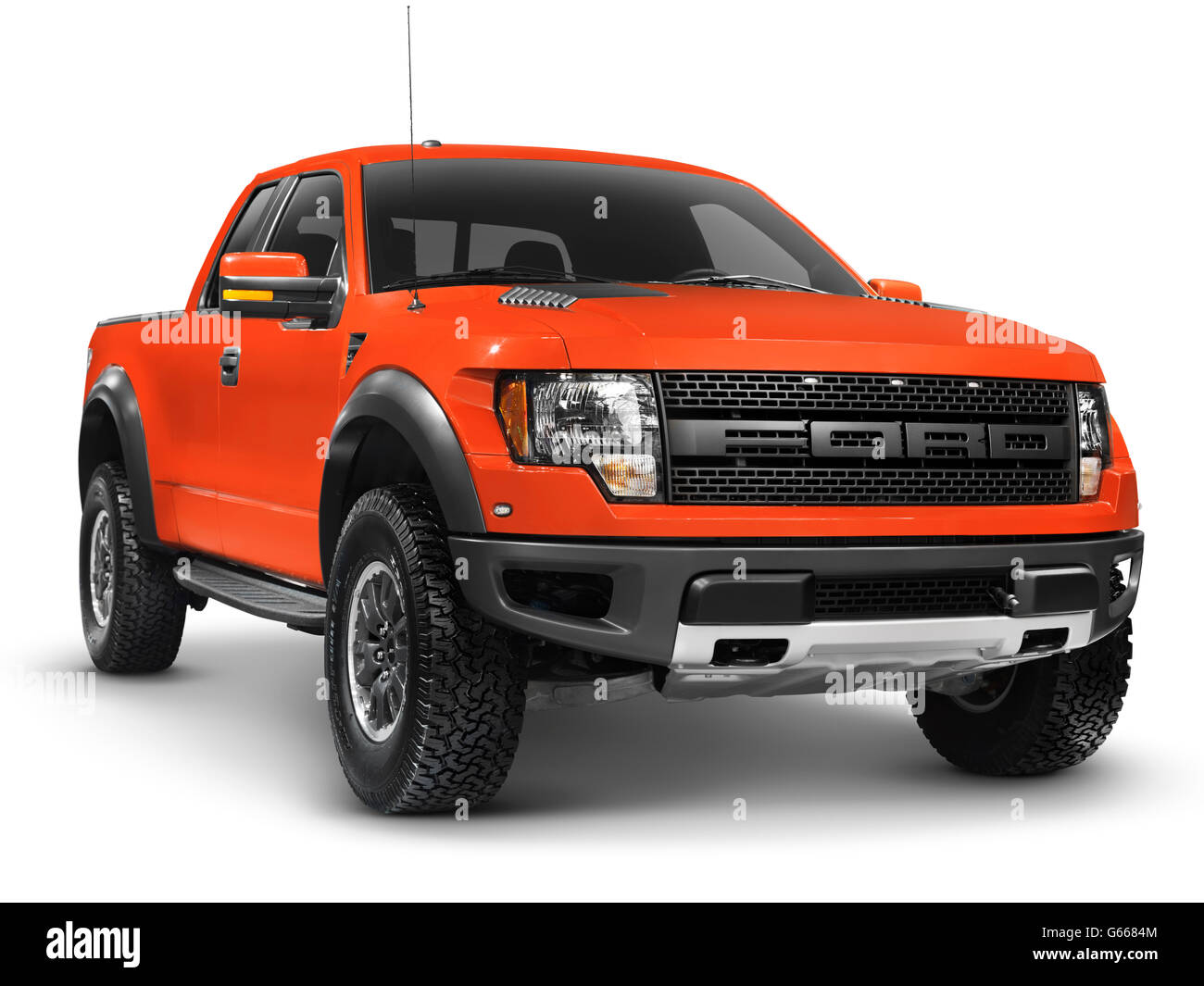 Red 2010 Ford F-150 Raptor SVT truck - Stock Image