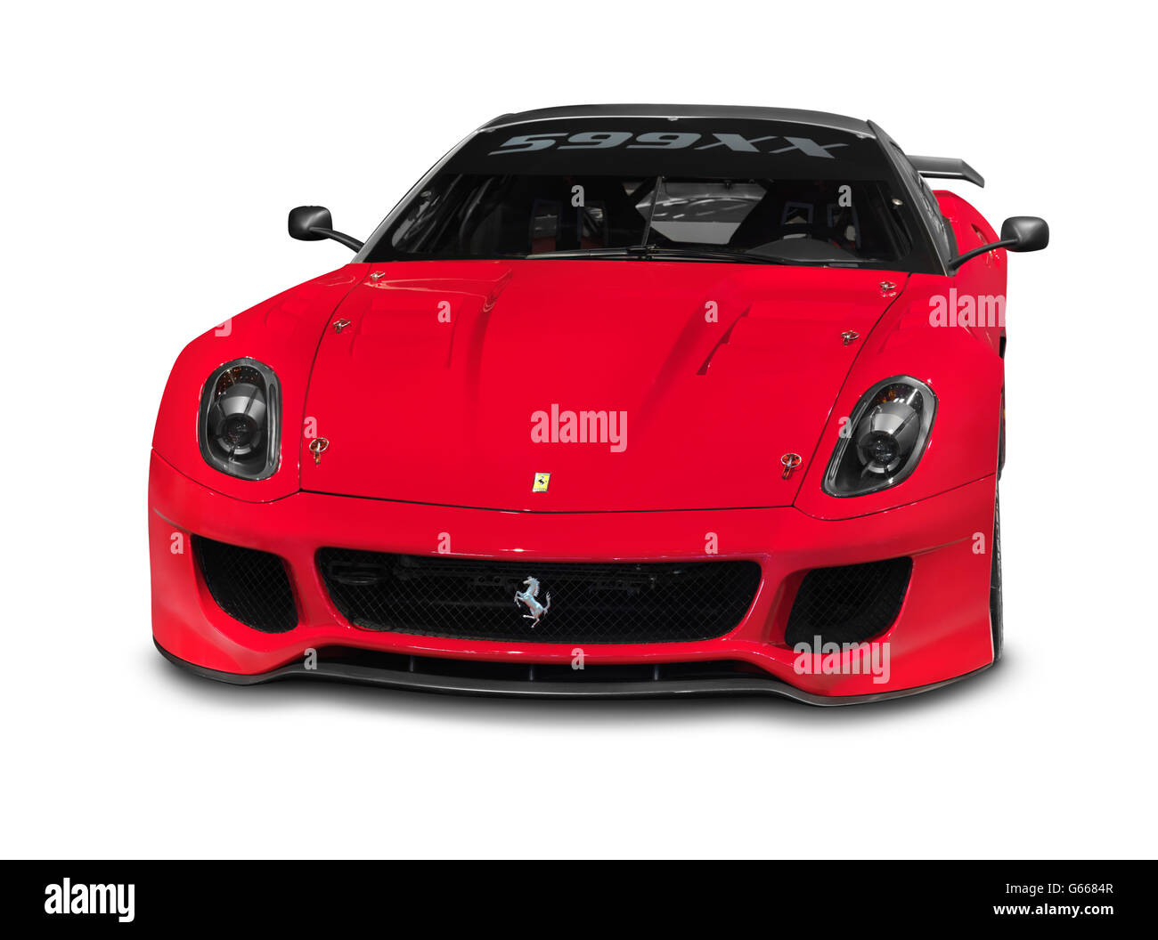 2010 Red Ferrari 599XX sports car, in production from 2009 - Stock Image