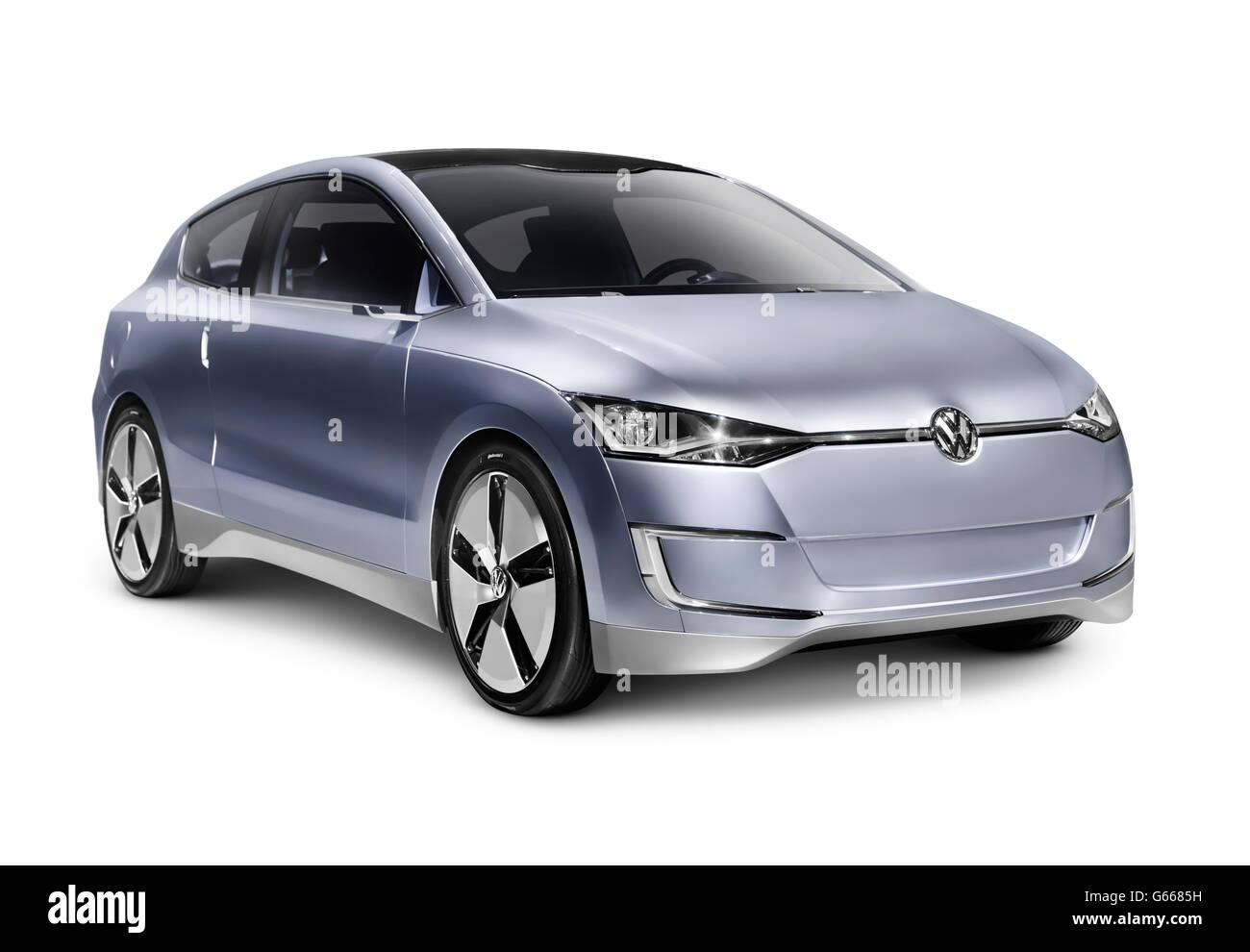 2010 Volkswagen Up! Lite Concept hybrid diesel fuel efficient city car - Stock Image
