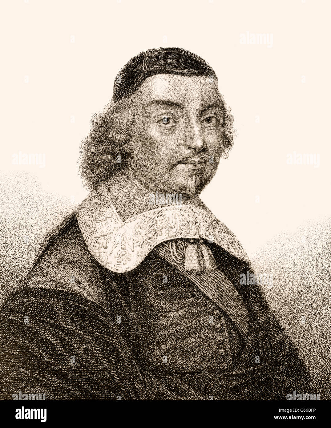 Mildmay Fane, 2nd Earl of Westmorland, 1602-1666, styled Lord le Despenser, was an English nobleman, politician and writer Stock Photo