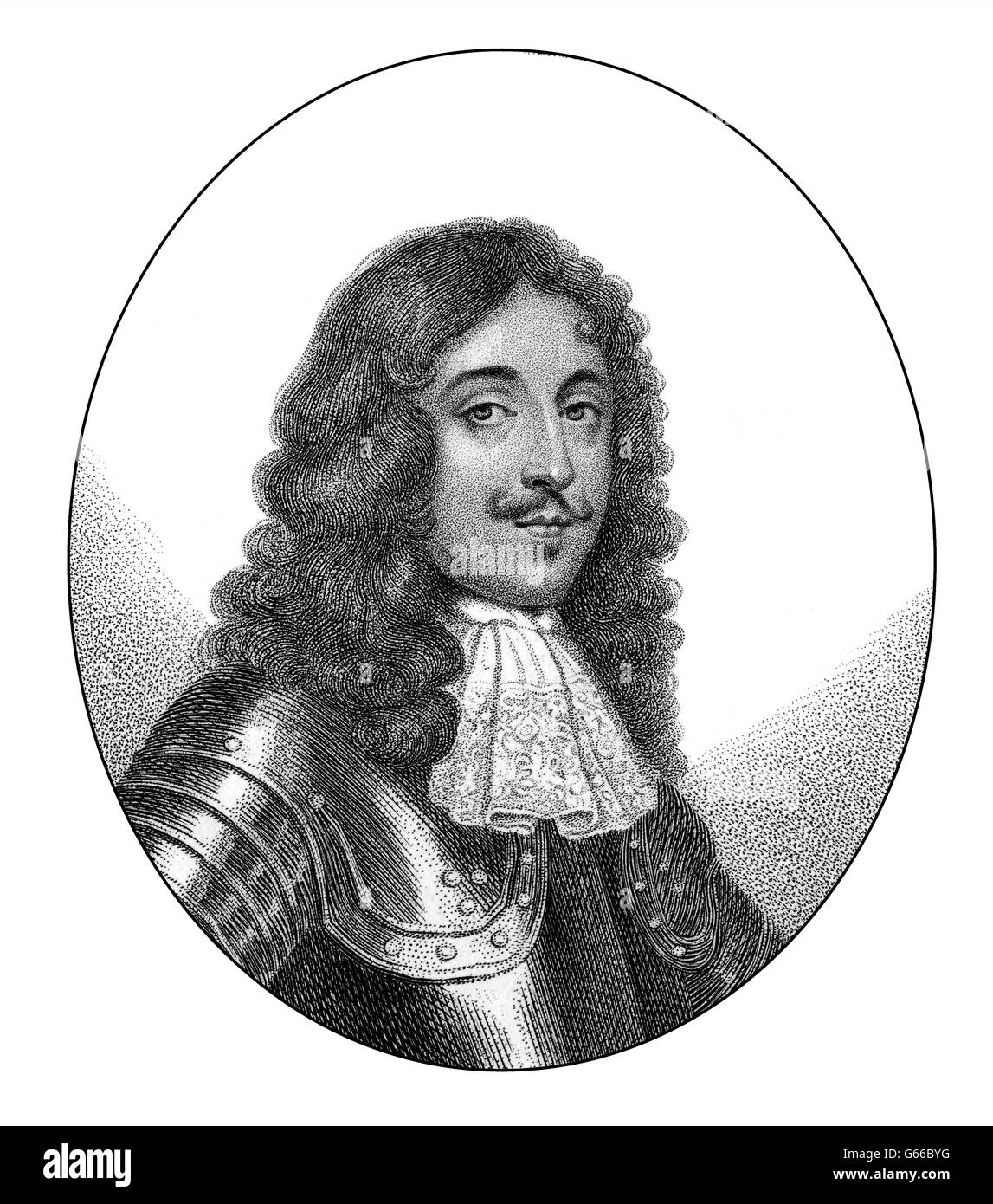 Charles Stanley, 8th Earl of Derby, 1628-1672, an English nobleman - Stock Image