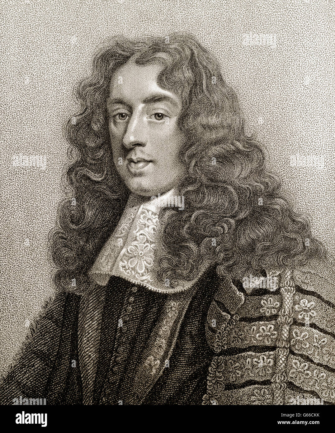 Heneage Finch, 1st Earl of Nottingham, PC, 1621-1682, Lord Chancellor of England - Stock Image