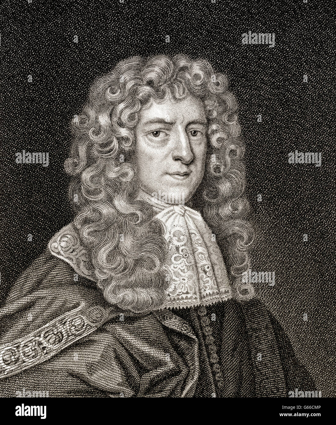 Anthony Ashley Cooper, 1st Earl of Shaftesbury, 1621-1683, an English politician - Stock Image