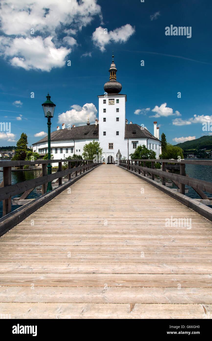 Schloss Ort castle, Gmunden, Upper Austria, Austria - Stock Image