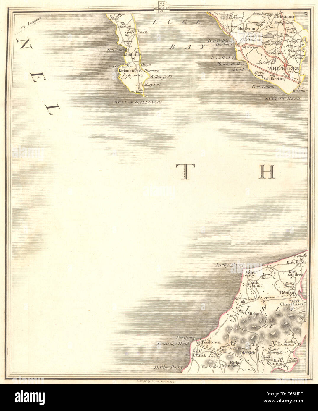 CARY 1794 map Ramsay Peel Luce Bay Whitehorn Machars ISLE OF MAN N /& GALLOWAY