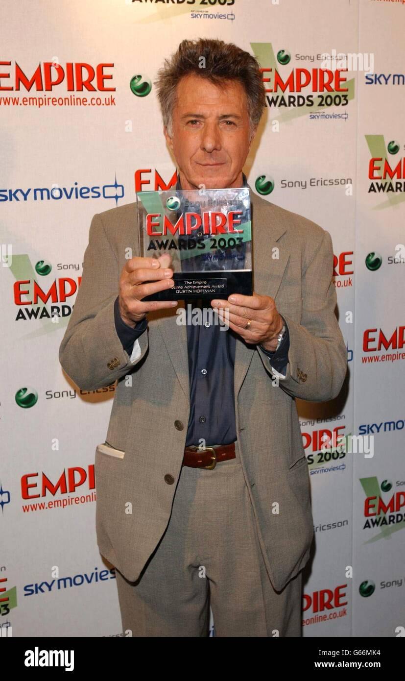 Empire Awards Dustin Hoffman Stock Photo