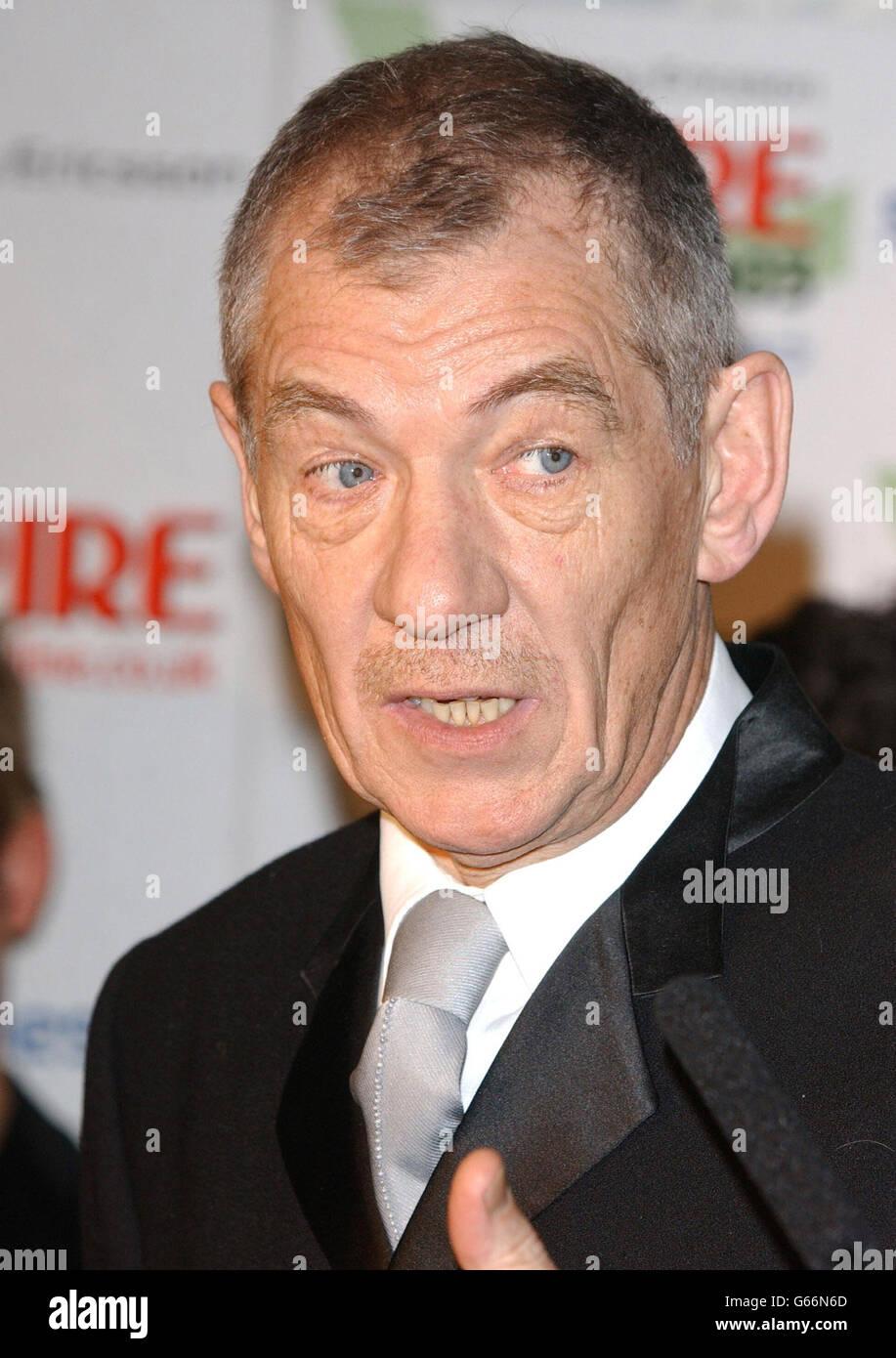 McKellen - Empire Awards Stock Photo
