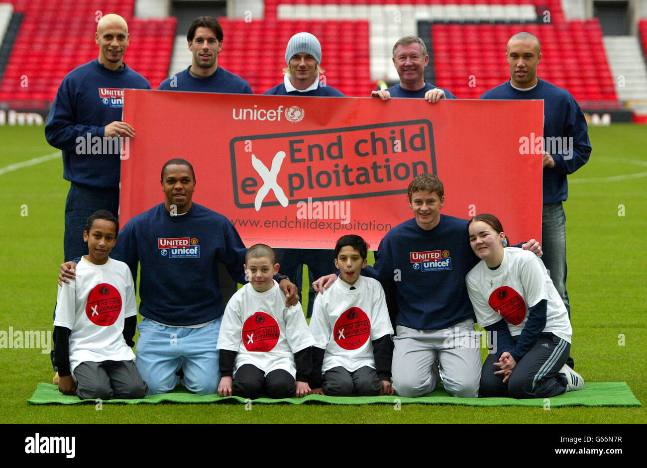 Manchester United - UNICEF - Stock Image