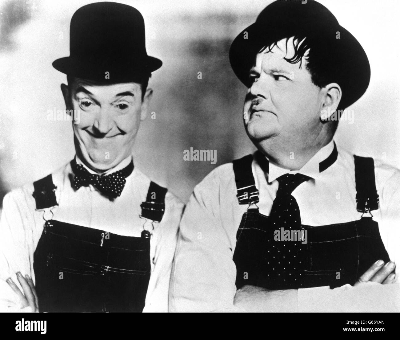 Laurel Hardy Comedy Duo Stan Black and White Stock Photos & Images ...