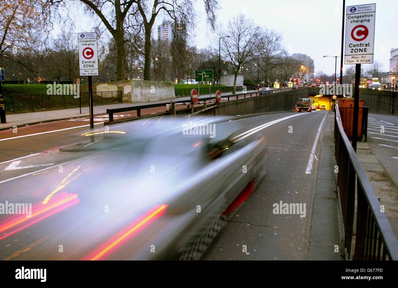 Congestion Charging begins - Stock Image