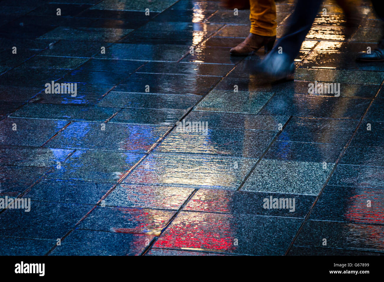 Step into the picture in the rain - Stock Image