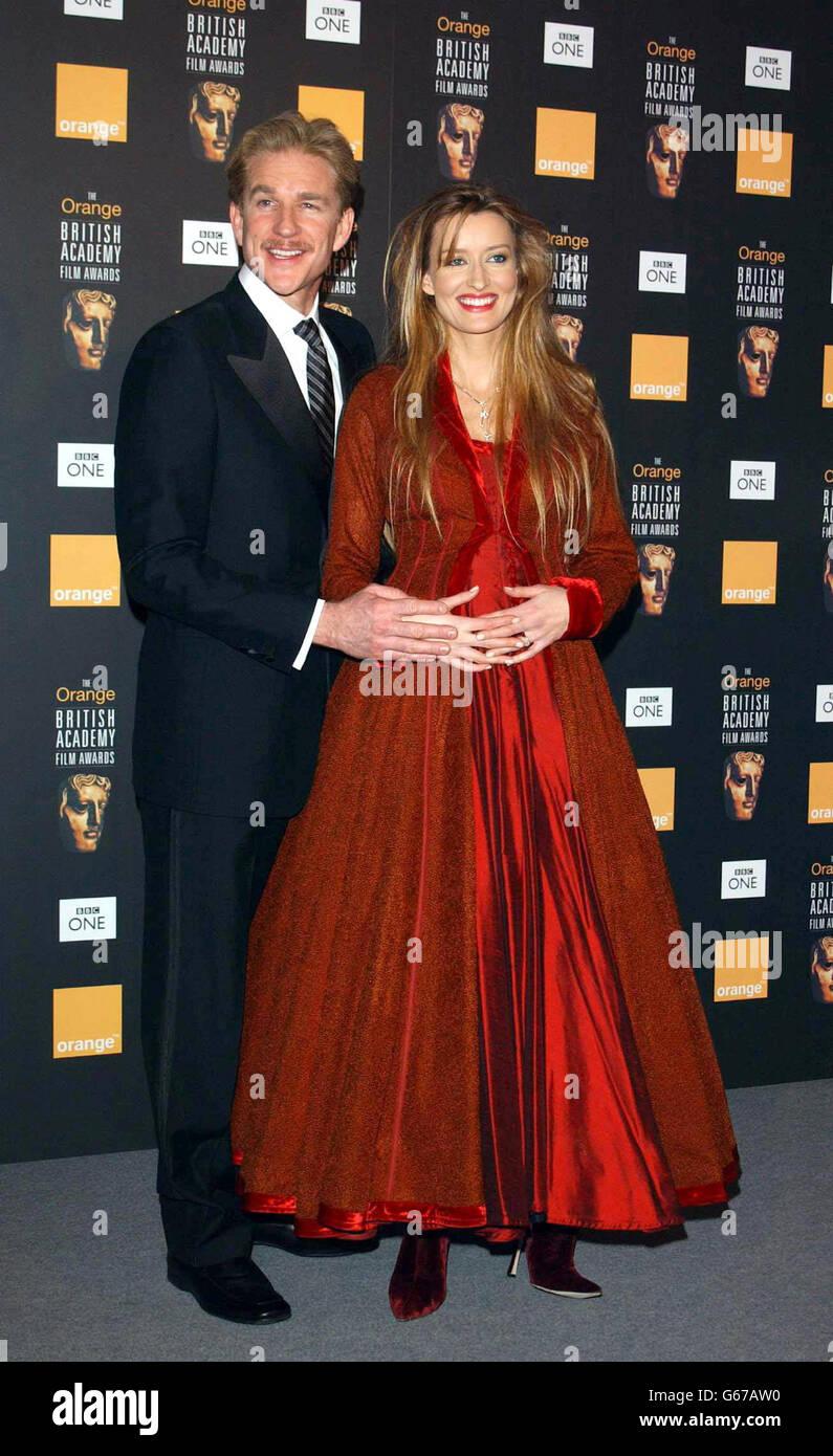 ORANGE BAFTAS Modine McElhone Stock Photo