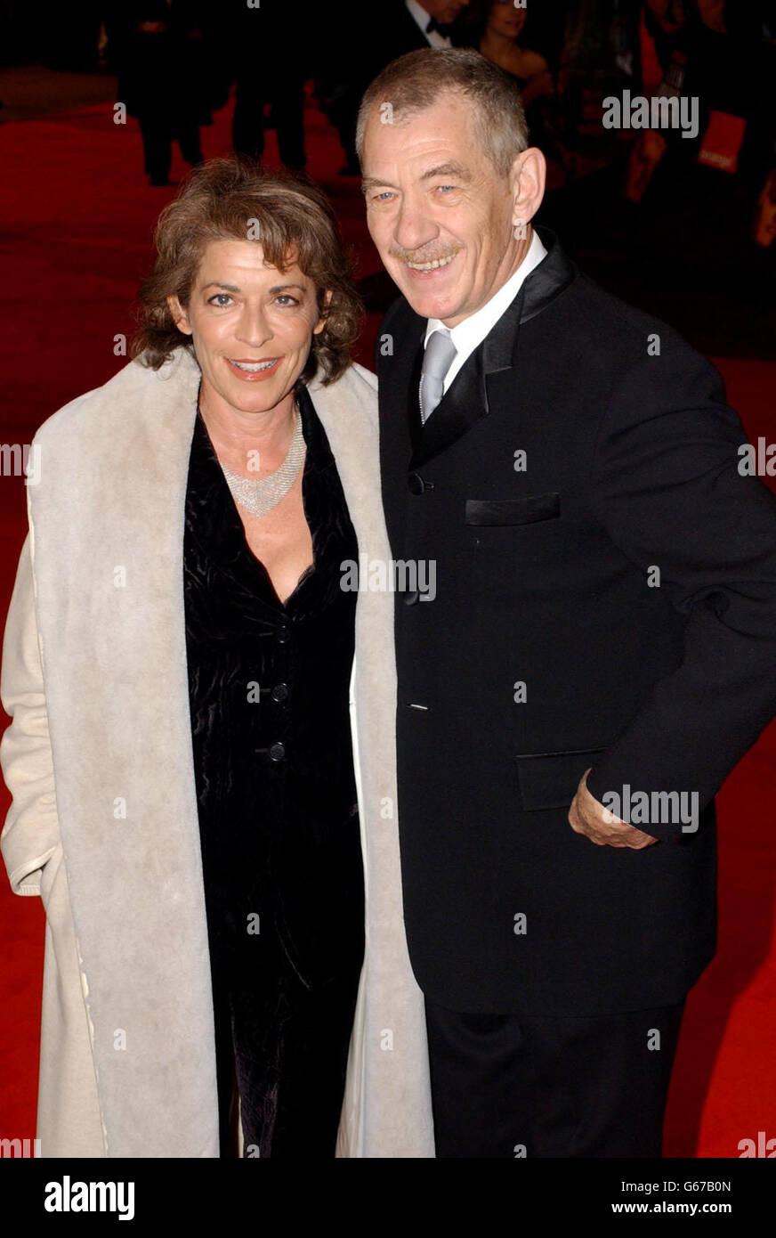 ORANGE BAFTAS Sir Ian McKellen Stock Photo