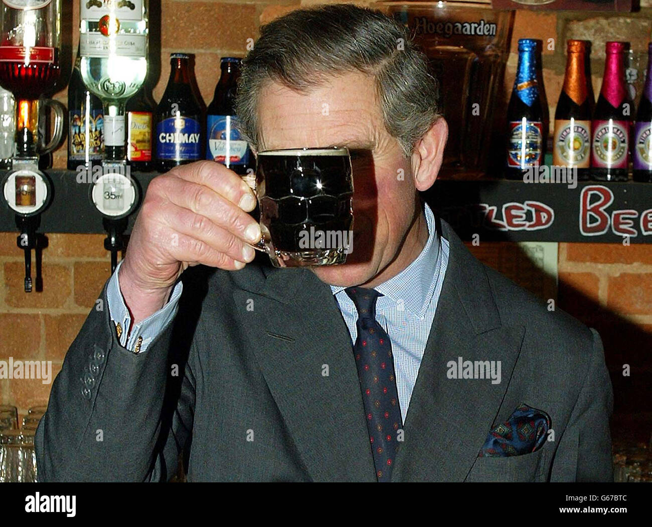 Prince of Wales Visits the Grainstore Brewery - Stock Image