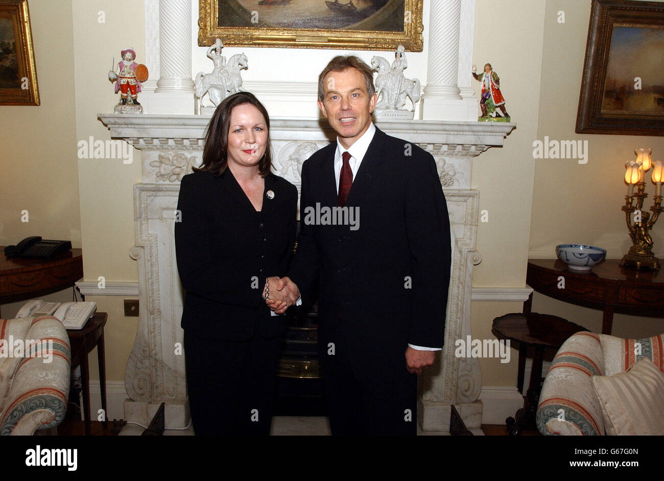Blair meets Health Workers - Stock Image