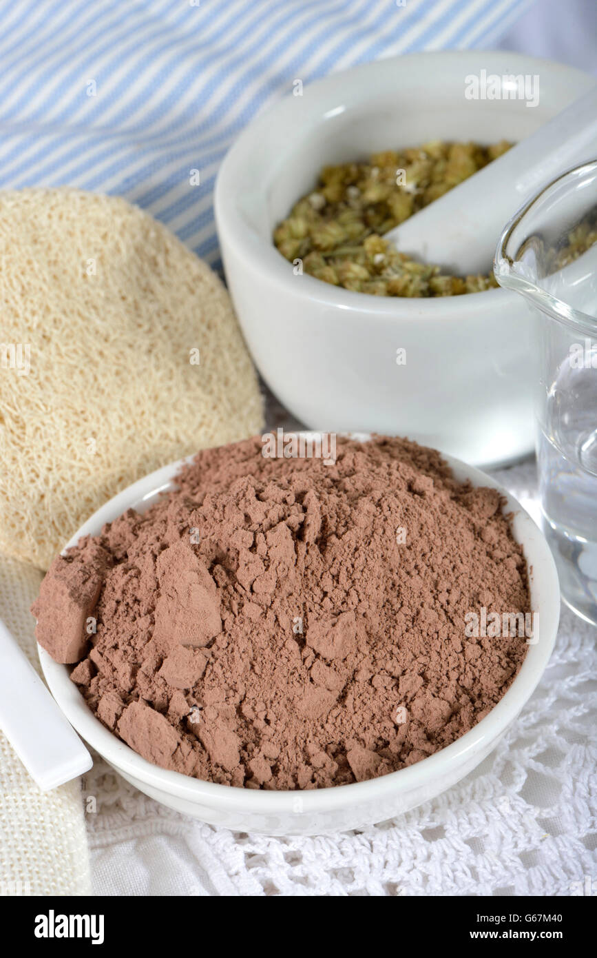 Red clay / (Bolus rubra) - Stock Image
