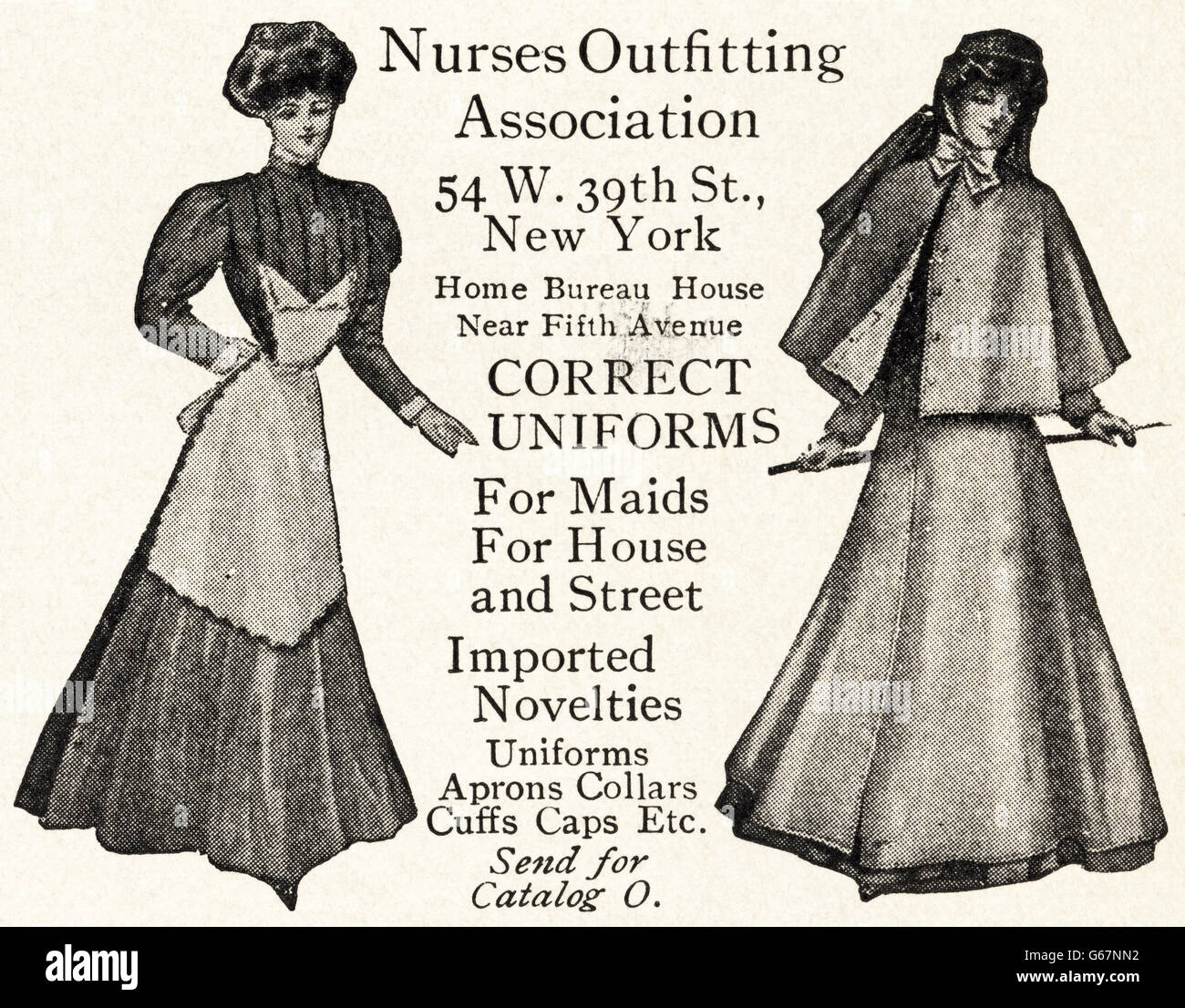 787c2cd958e Original old vintage American magazine advert from the Edwardian era dated  1910. Advertisement advertising Nurses