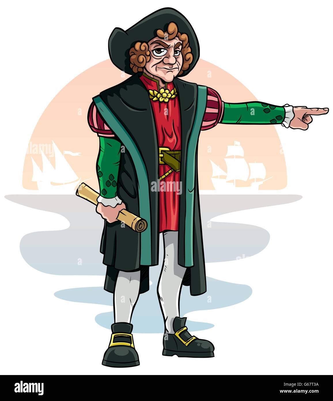 Cartoon Of Christopher Columbus Stock Vector Image Art Alamy