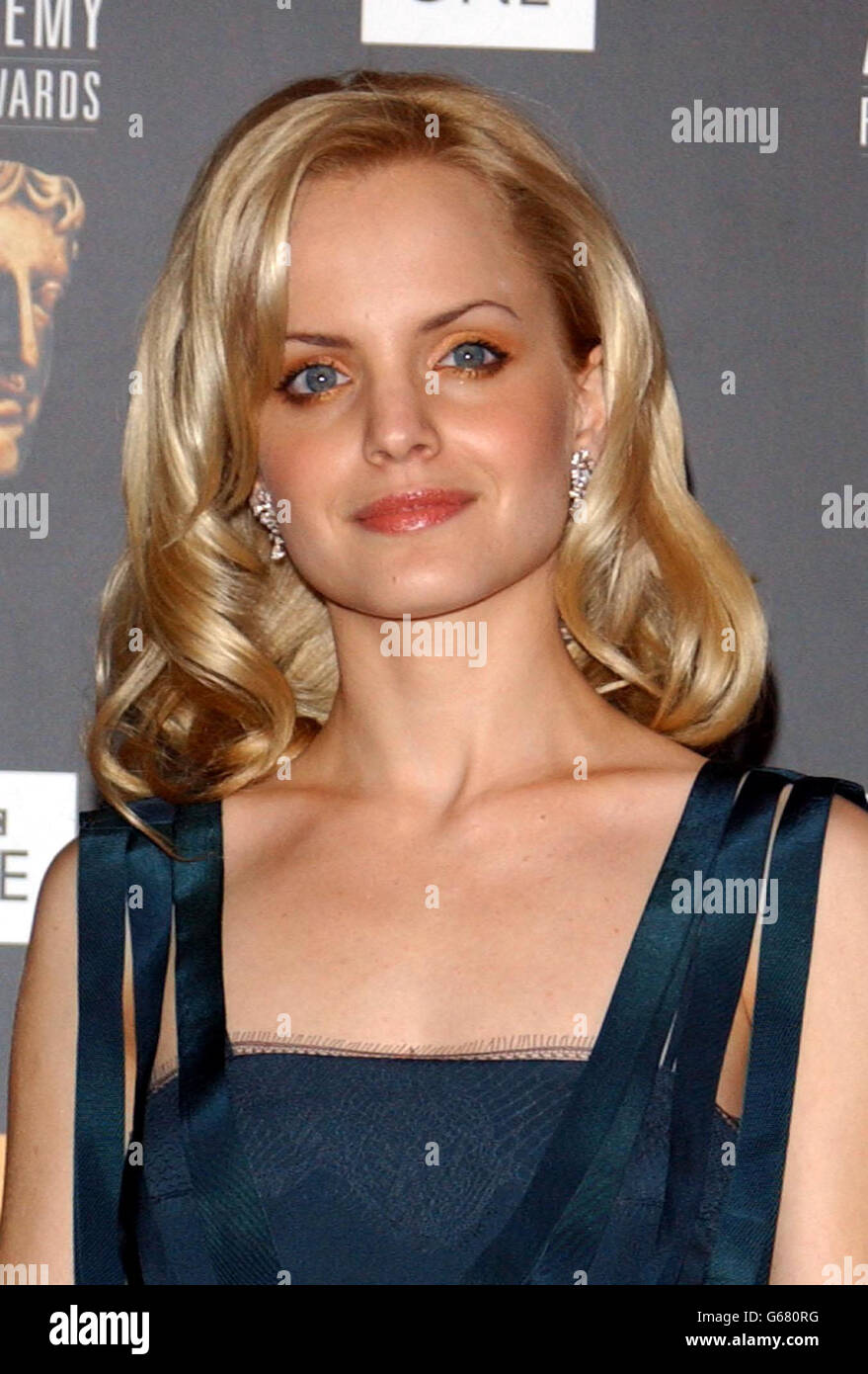 ORANGE BAFTAS Mena Suvari Stock Photo