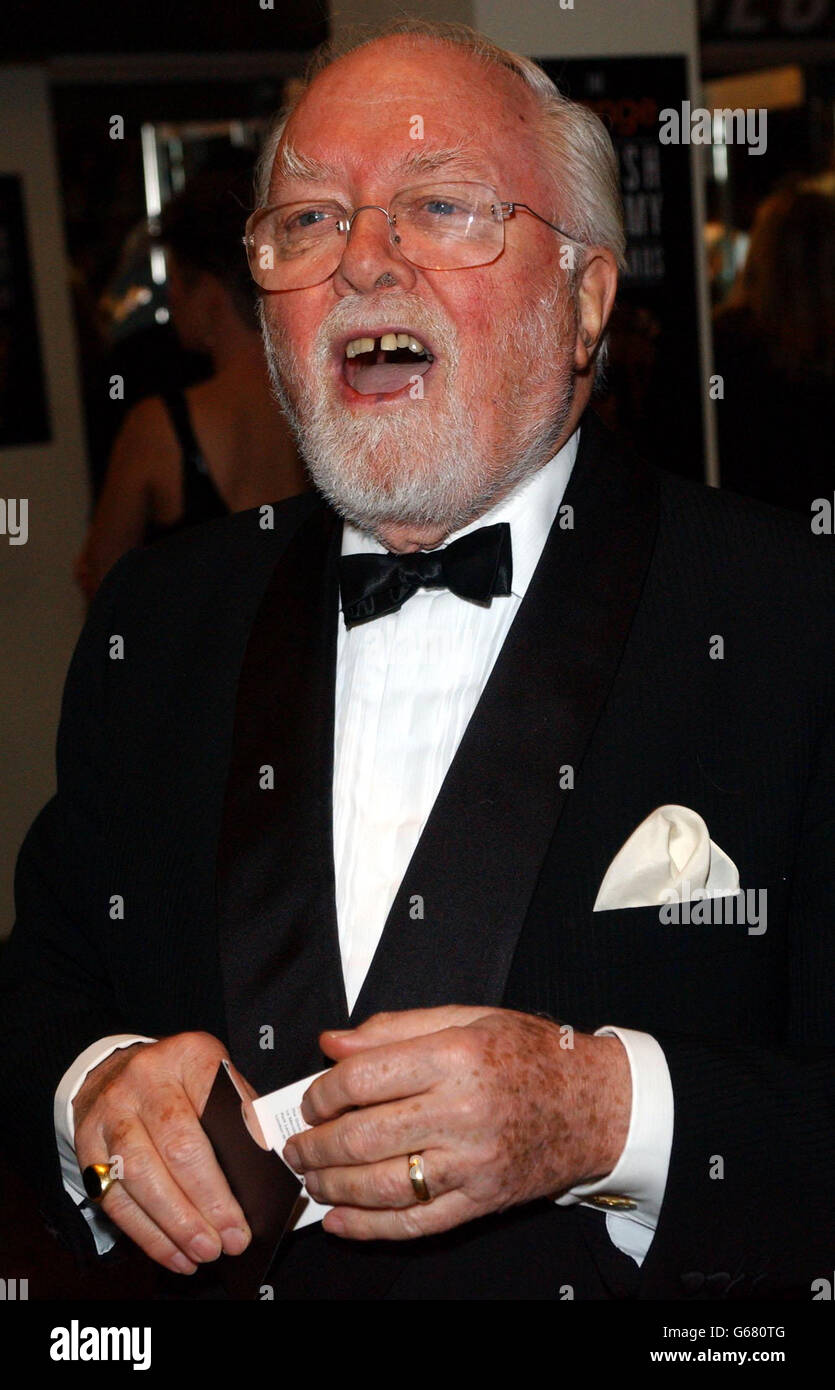 ORANGE BAFTAS Lord Attenborough Stock Photo