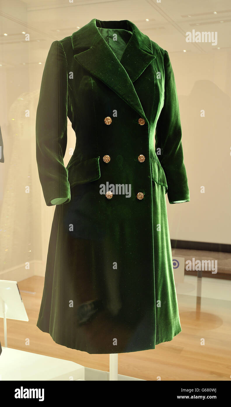 A Green Velvet Coat Worn By Princess Margaret In 1970s High Resolution Stock Photography And Images Alamy