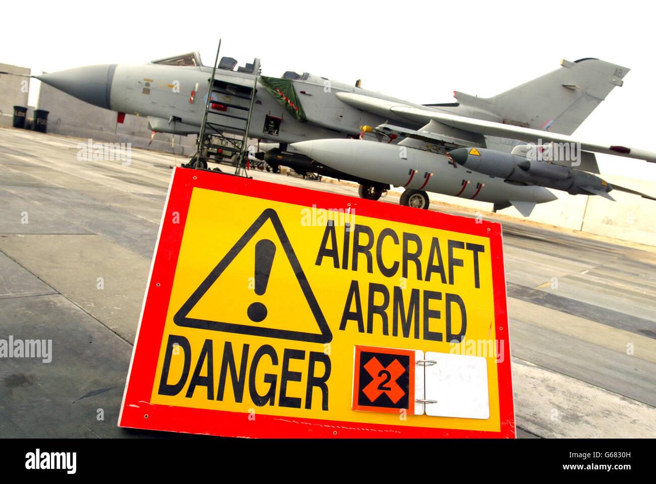 British Royal Air Force Tornado GR4 Stock Photo