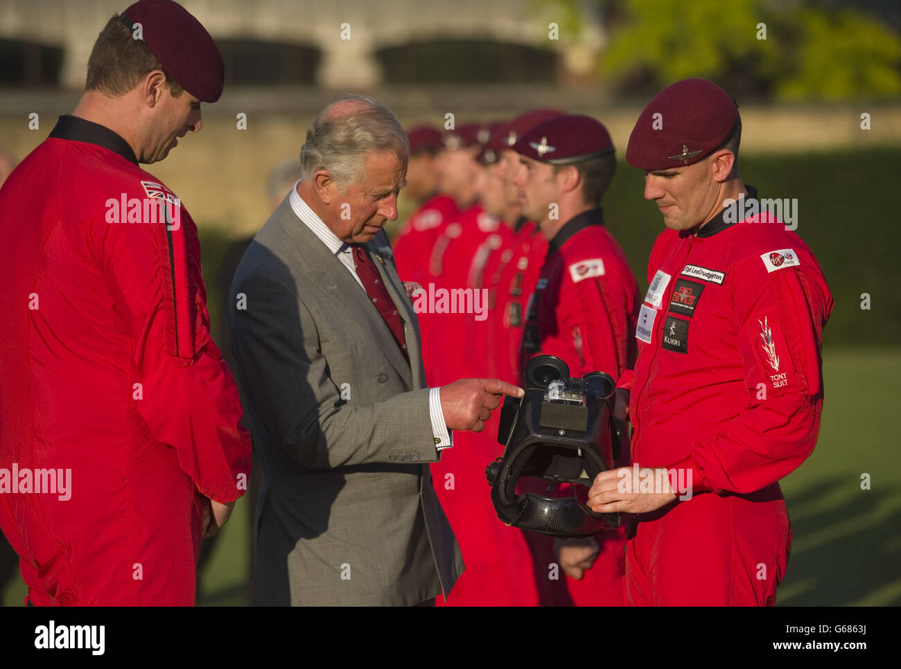 Royal visit to Parachute Regiment Fundraising Dinner Stock