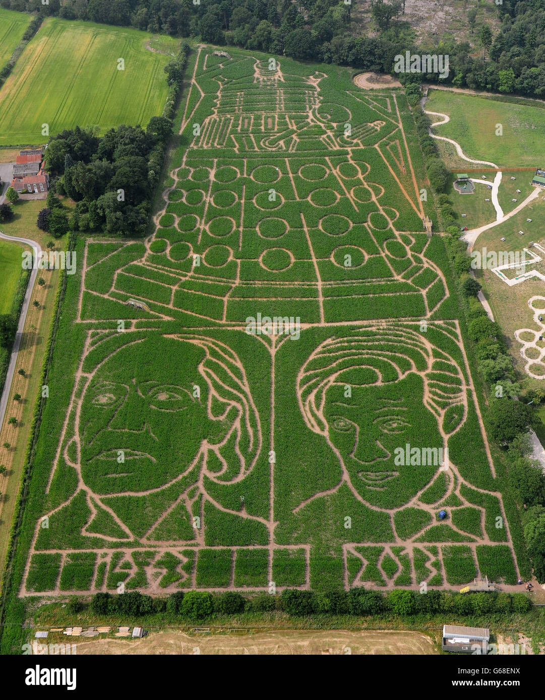 Doctor Who at York Maze - Stock Image