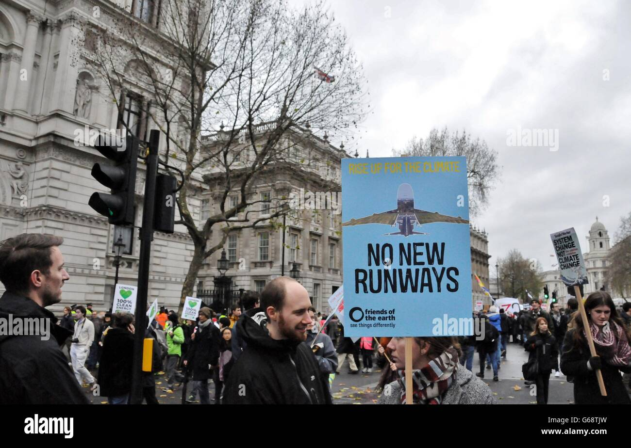 Demonstration against damage to the environment - Stock Image