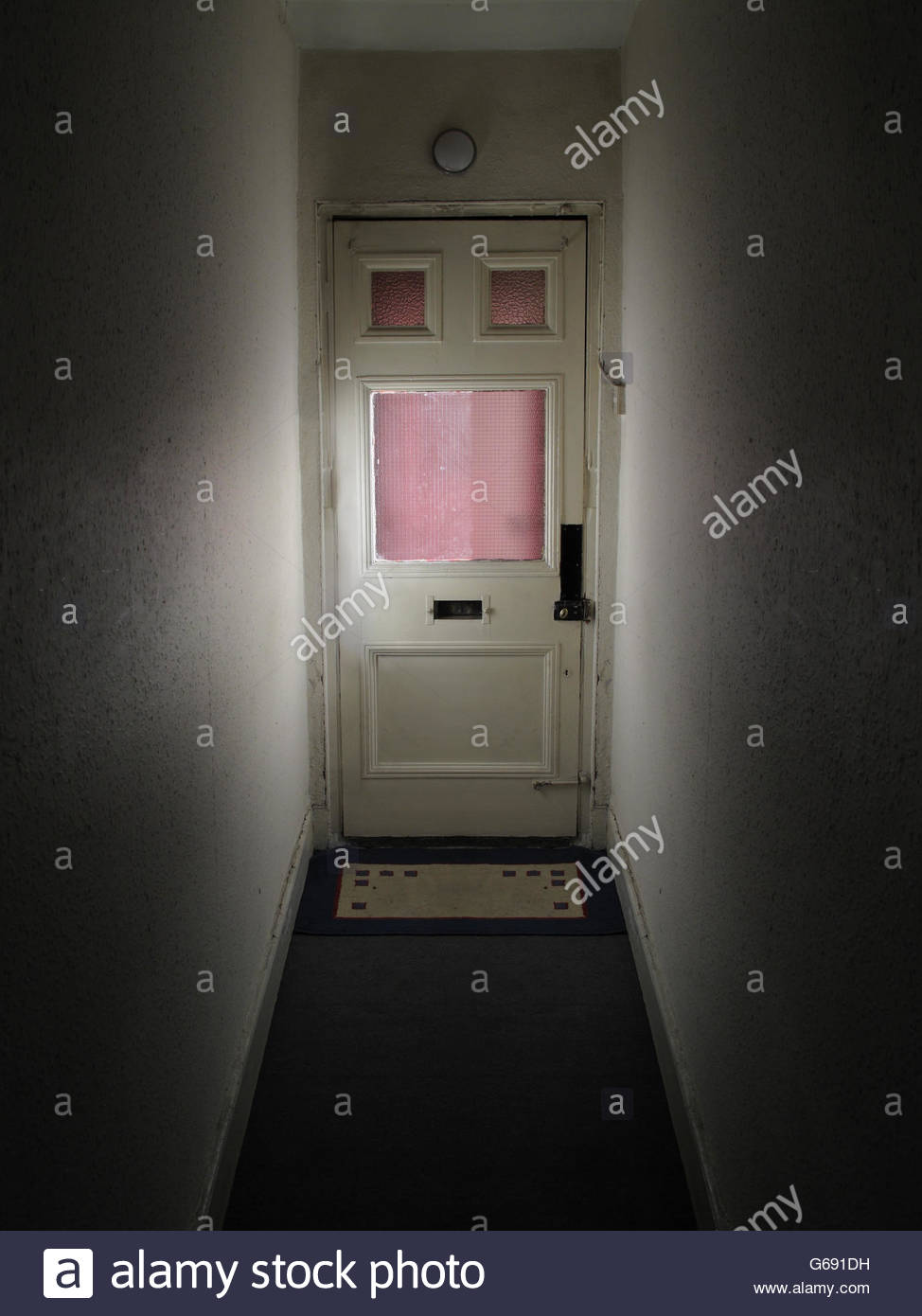 Looking At A Front Door From Inside Stock Photo 107148877 Alamy