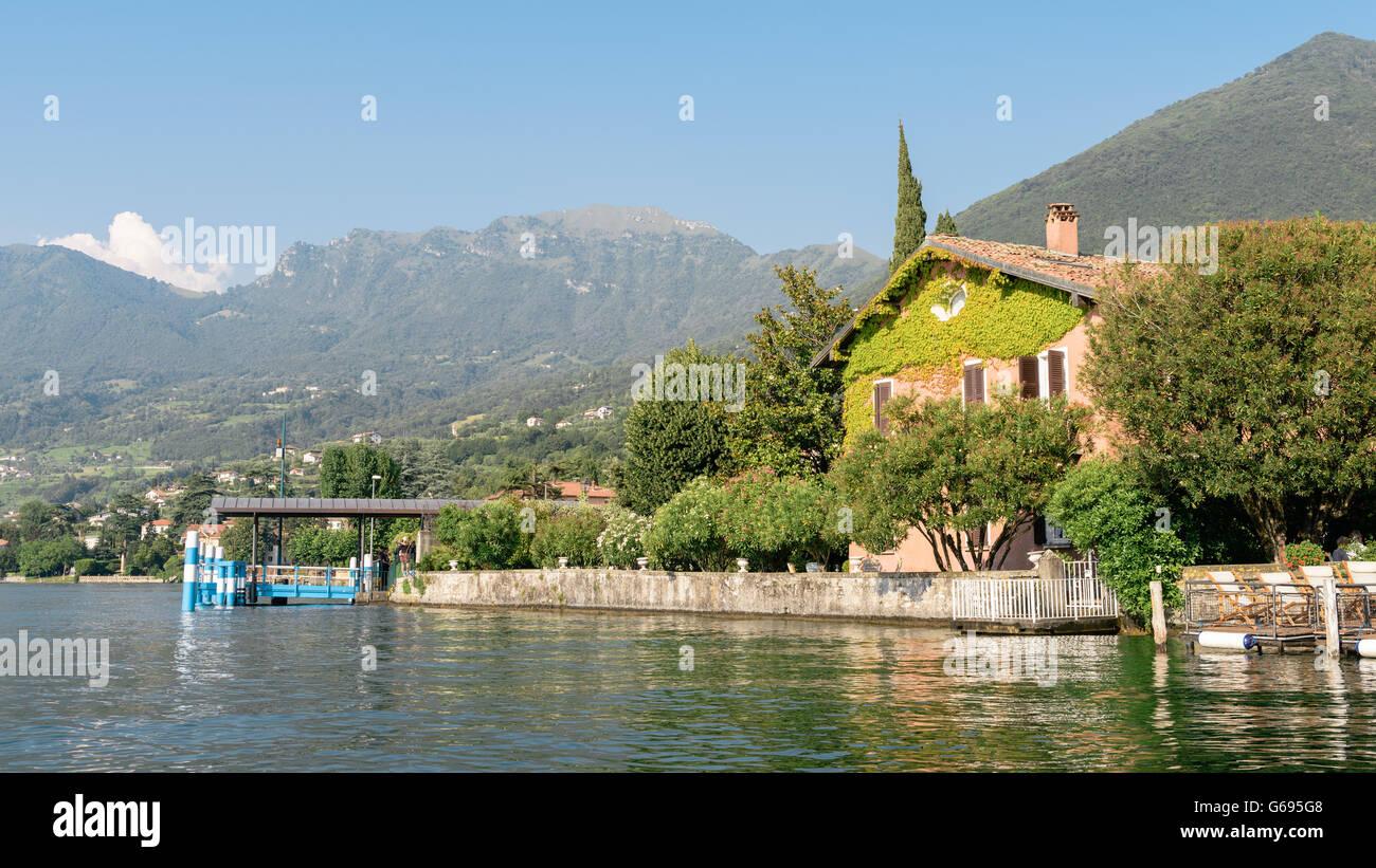 House on Lake Iseo, Italy - Stock Image