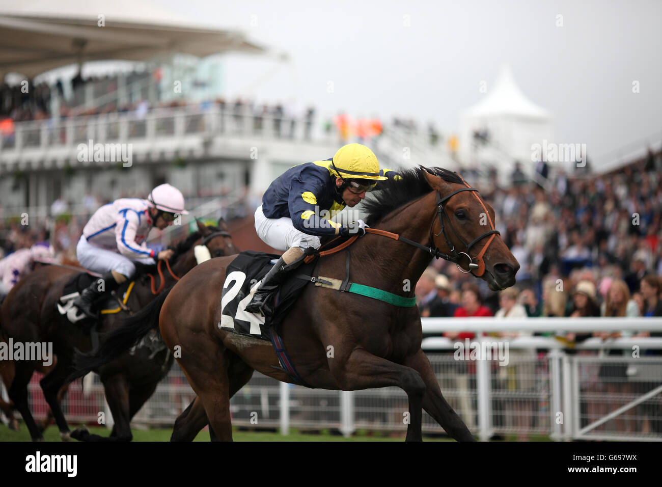 Horse Racing - 2013 Glorious Goodwood Festival - Opening Day - Goodwood Racecourse - Stock Image