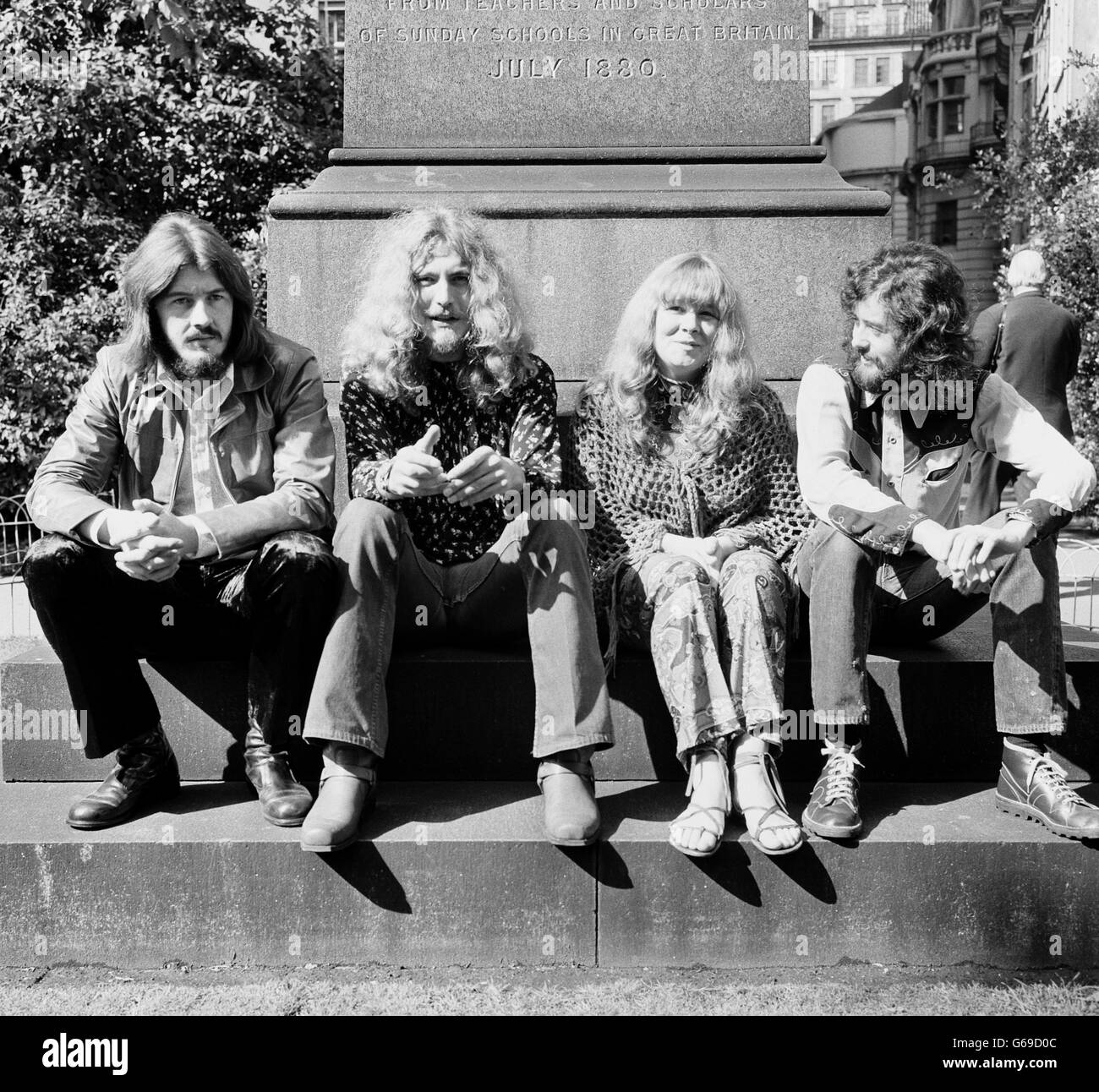 Music rock groups led zeppelin london stock image