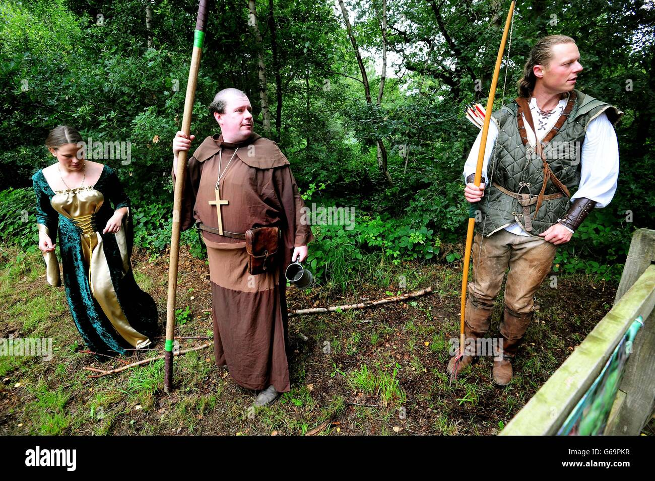 29th annual Robin Hood Festival at Sherwood - Stock Image