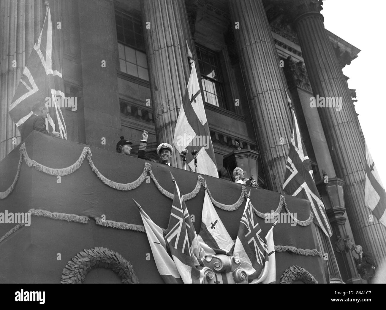Politics - Freedom of the City of London ceremony - Lord Louis Mountbatten - Mansion House, London - Stock Image