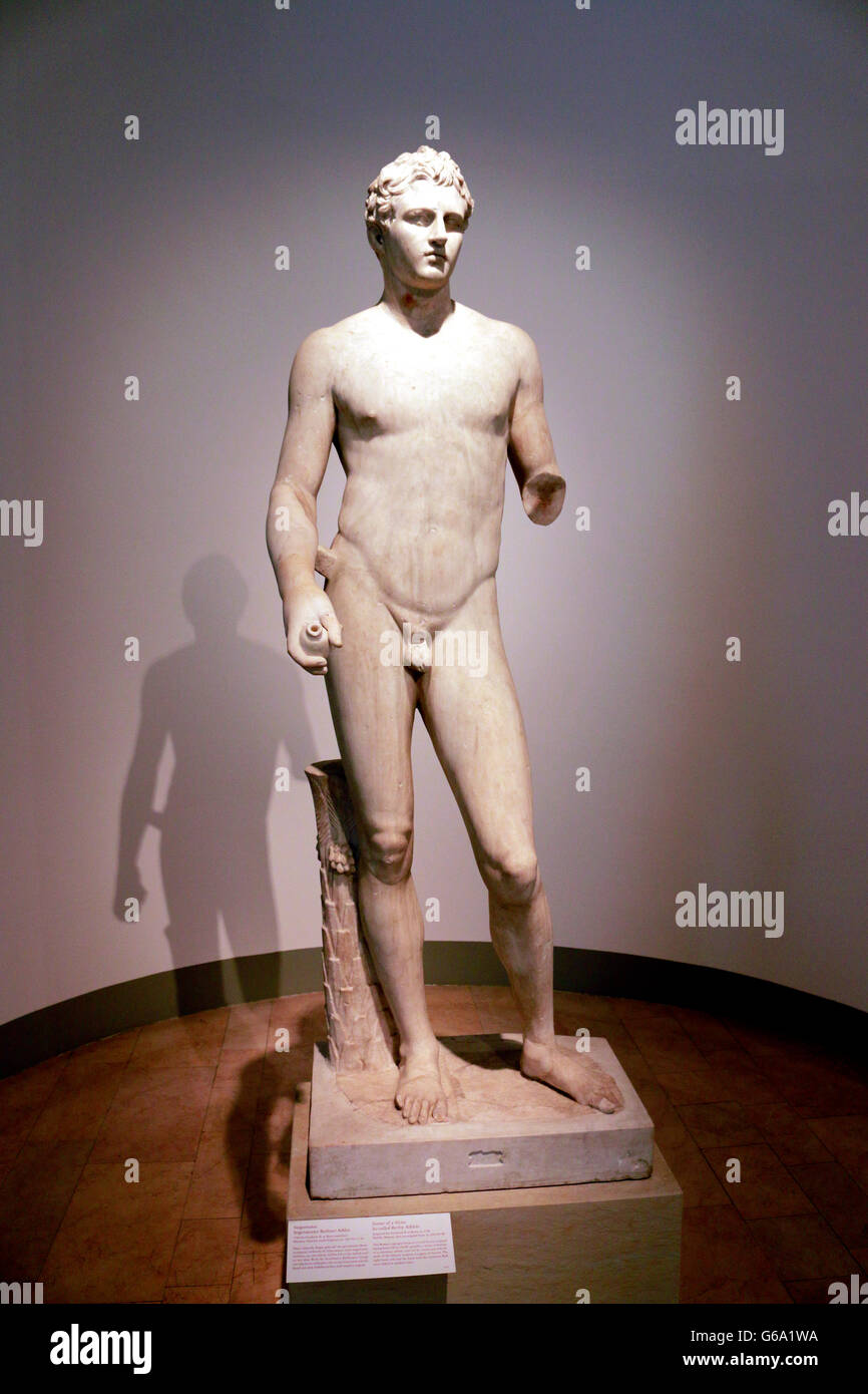 Skulptur/ Bueste: Berliner Athlet, Berlin. - Stock Image