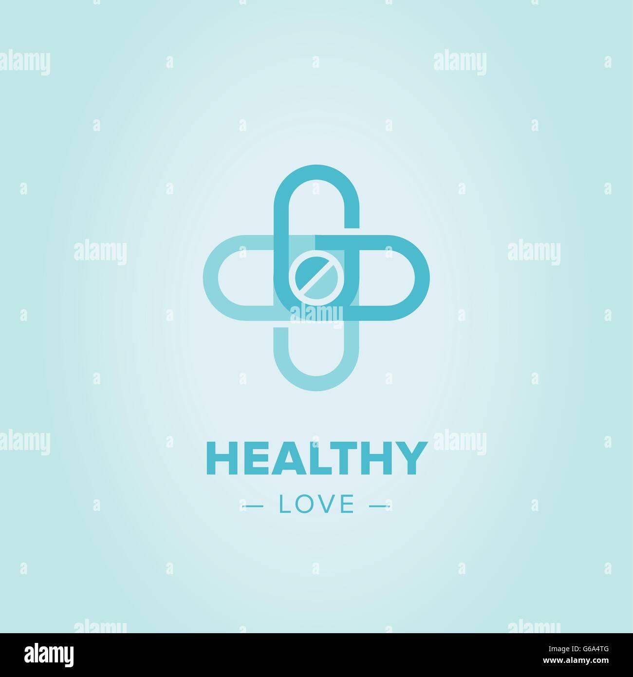 medic cross logo template stock vector art illustration vector